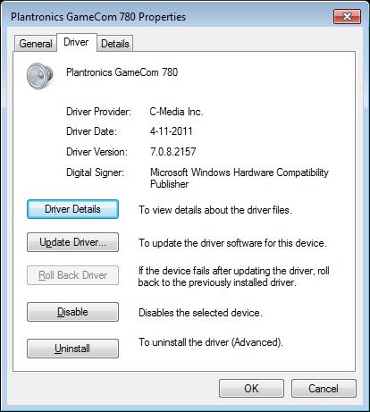 Plantronics Gamecom 780 Driver Windows 10